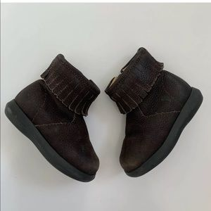 Baby Gap Fringe Boots Size 4 Brown